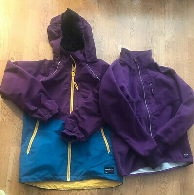 Polarn O Pyret Girls Shell Jacket And Separate Fleece - Age 10-11 Years - VGC