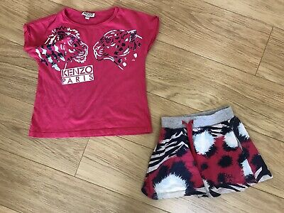 Genuine Girl's Kenzo Outfit/Set. Skirt & T-Shirt. Age 4 Years. Very Good Cond.
