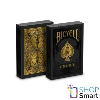 Bicycle Rider Back Black Gold Edition Playing Cards Deck Magic Tricks Uspcc New