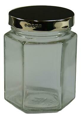 NEW - Solid Sterling Silver LID - EMPTY Jar - 8 oz - Wedding Favours