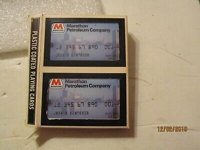Sealed Double Decks of Marathon Petroleum Company Credit Card Playing Cards