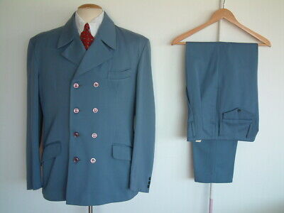 """ROCK A CHA SUIT..50's / 60's..40"""" x 32""""..WOOL BLEND..PEGS..DOUBLE BREASTED..ROCK"""