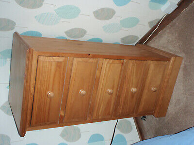 """Tall Boy Pine chest of drawers - good condition 4 ' 6"""" high 2.1"""" wide - 17"""" deep"""