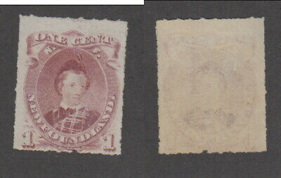 Mint Newfoundland 1 Cent Prince Edward Roulletted Stamp #37 (Lot #16270)