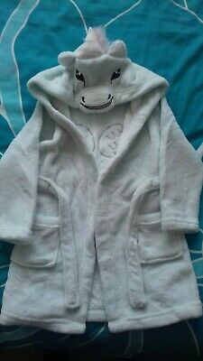 Girls Unicorn Dressing gown Age 4