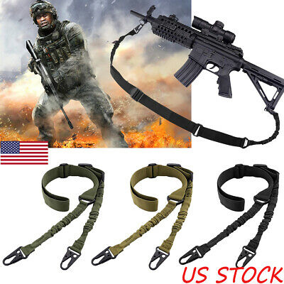 Tactical 2 Point Gun Sling Shoulder Strap Outdoor CS Rifle Hunting Shotgun Belts