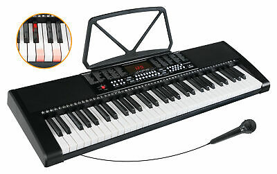Clavier Numerique Piano Synthétiseur 61 Touches Ilumineux Microphone 255 Sons