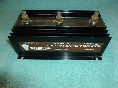 Vanner Schottky Battery Isolator model 51-140 surface mounted - tested and works
