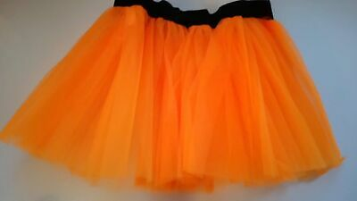 Tutu Skirt Neon Orange Ladies Kids Unisex  Hen Party 80s Fancy Dress Costume