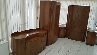 vintage/ retro walnut 5 piece wardrobe set.