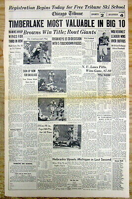 1964 newspaper CLEVELAND BROWNS WIN football Championship & Play BALTIMORE COLTS