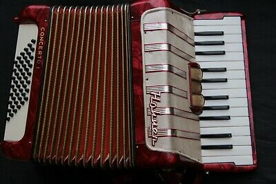 Hohner Accordion Concerto I, 48 bass, 2 reeds, vintage 1972, serviced, very good