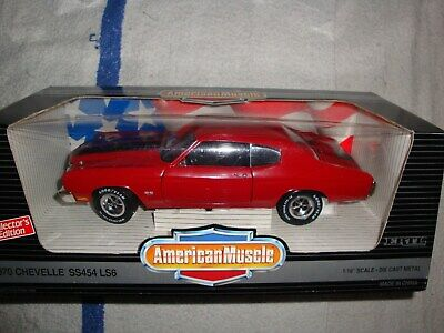 ERTL 1/18 1970 Chevelle SS 454 LS6 Cranberry Red/Black  7486 American Muscle