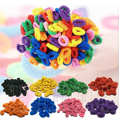 Hair Mini Bobble Ponytail Ties Band Styling Elastic Snag Free Scrunchies Candy