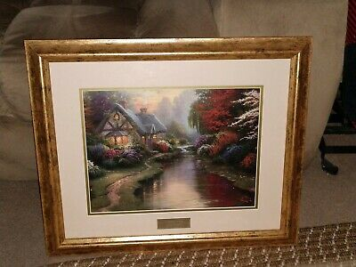 """A Quiet Evening"" Thomas Kinkade, Library Edition (19x23 Framed) Print. Perfect!"