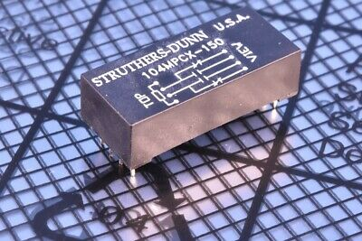 Struthers-Dunn 104 Dry Miniature Reed Relay SPDT DPDT 0.25A Rhodium 104MPCX