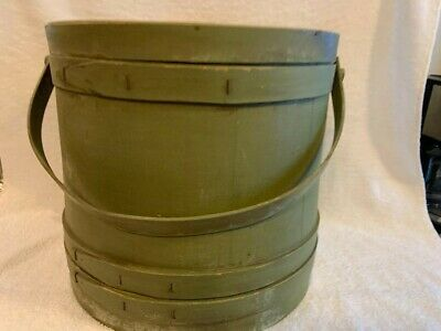 Vintage Antique Primitive Large Wood Firkin ~ Pantry Box ~ Sugar Bucket