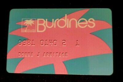 Burdines Florida Credit Card ♡Free Shipping♡cc406♡