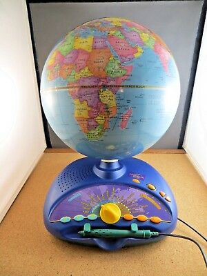 Leap Frog Earth Explorer Globe Interactive Fun Learning Geography Electronic Toy