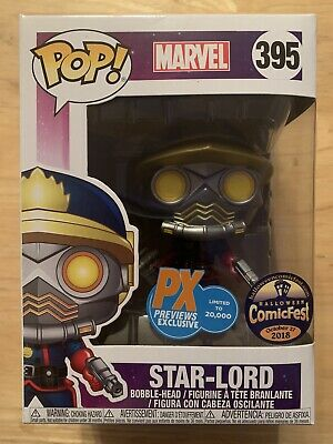 Pop PX Previews Exclusive ComicFest Star-Lord #395 with soft Protector 20,000qty