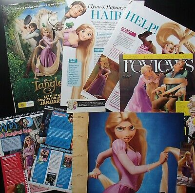 TANGLED | Disney | Rare | 7 Piece Clippings Pack | Including Height Chart Poster