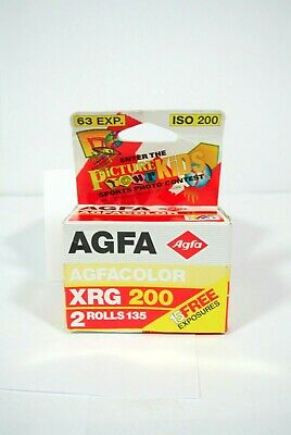 2 EXPIRED Agfa Agfacolor XRG200 Color Prints Film 35mm 63exp SEALED NIB
