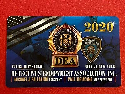 """New"" 2020 Nypd Dea Detective Card ""100% Authentic"""
