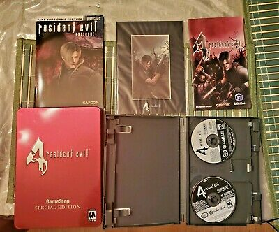Resident Evil 4 Special Edition Tin GameStop Nintendo GameCube COMPLETE