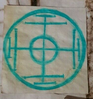 Stained Paper Amulet Symbol Watercolour Sigil Journal Grimoire Spellbook