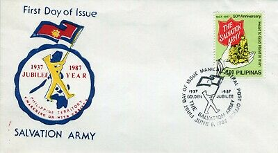 Phillipines 1987 Salvation Army Fdc & Block Of 4