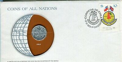 Salvation Army Chile Fdc With Coin 1979