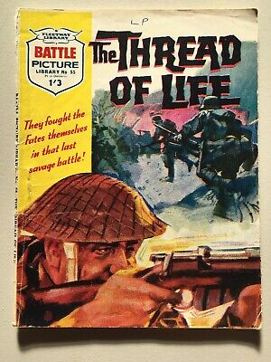 """Fleetway Battle Picture Library Comic # 55 from 1962 """"The Thread of Life"""" VG"""