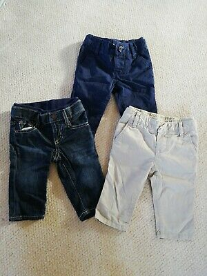 Baby Boys Trousers / Jeans Bundle Age 3-6 Months BABY GAP