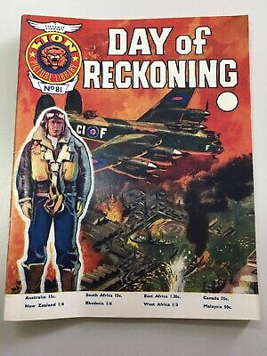 "Fleetway Lion Picture Library Comic # 81 from 1967 ""Day of Reckoning"".  Exc Cond"