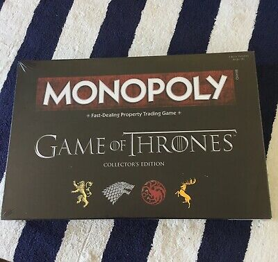 Brand New Monopoly Game Of Thrones Collectors Edition Board Game