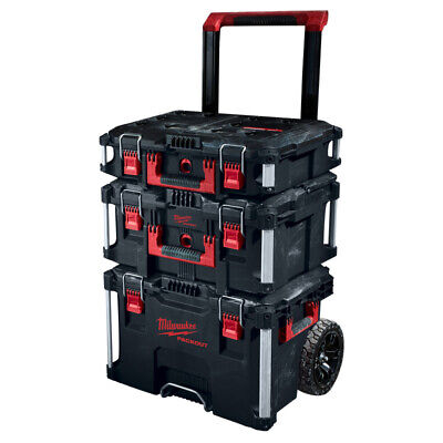 Milwaukee Packout Set with Trolley Suitcase, Suitcase Large &