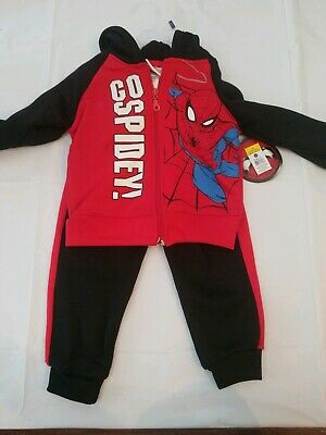 Exclusive Marvel Spider-Man Toddler 2 Piece Sweatsuit Sizes 2T 3T 4T NWT
