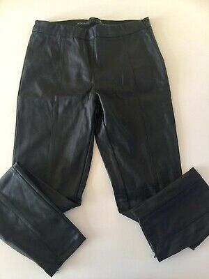 NEXT SIZE 8 Regular Pull On Black Faux Leather Look Leggings TROUSERS BNWT