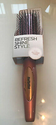 Babyliss Elegance Revive Hairbrush Refresh Shine Style Rose Gold , New