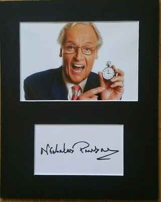 Nicholas Parsons CBE, 'Just a Minute' hand signed mounted autograph. RIP