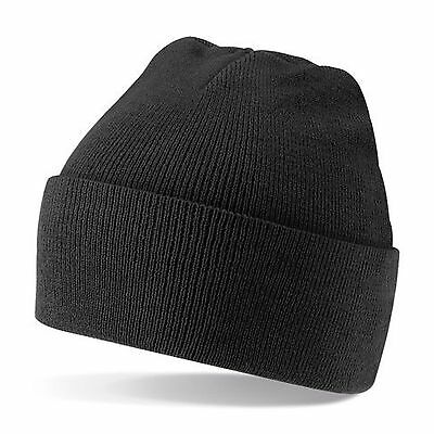 Beanie Hat Kids Slouch Warm Knitted Winter Bobble Ski Thermal Wool Skull Turn up
