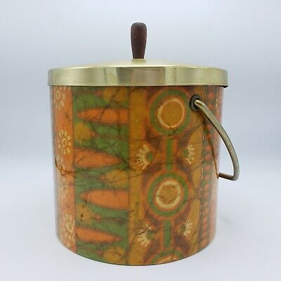 Vintage MCM Modern Design Funky Ice Bucket with Handle