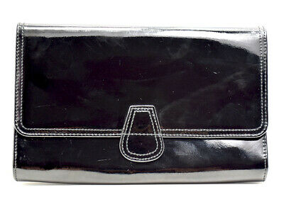 Marks and Spencer Large Leather Womens Clutch Travel Wallet Holder Black