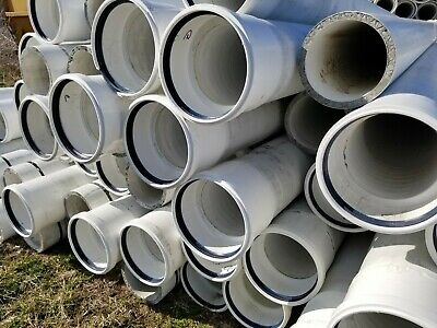 12 inch PVC pipe reinforced with lightweight concrete