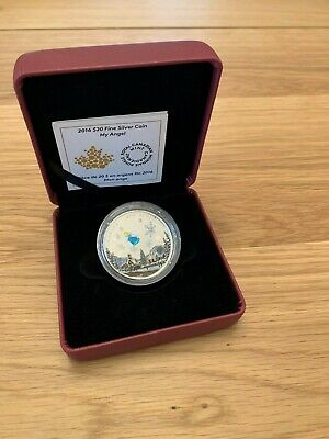 2016 $20 My Angel Colourful Murano One of a Kind Glass RCM Fine Silver Coin