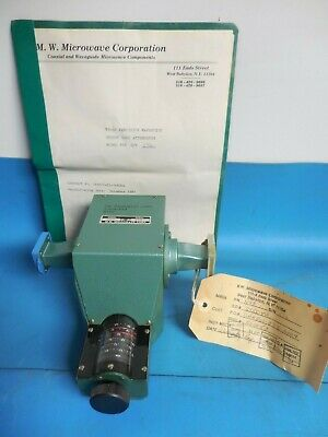M. W. Microwave Corp Y93 Precision Waveguide Rotary Vane Attenuator