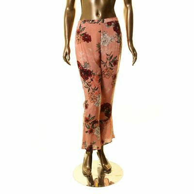 BB DAKOTA NEW Women's Floral Zipper Back Flare Pants TEDO