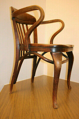 Authentic antique ADOLF LOOS THONET, Armchair, signed, ~1905