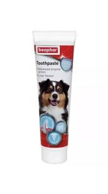 7x Beaphar Enzymatic Dog Cat TOOTHPASTE Breath Dental Tooth Care Liver Flavour