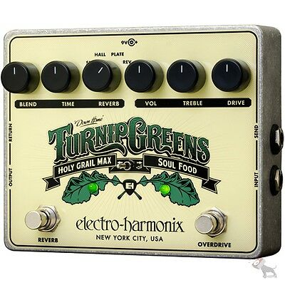 Electro-Harmonix Turnip Greens Overdrive/Reverb Soul Food/Holy Grail Max Pedal